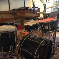 Vintage Premier drumkit (my brother's) thumbnail